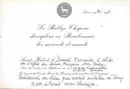 Carton - Rallye CHAPEAU - Chasse à Courre - 1980 - H. De Monspey - Allier Nièvre - Pas Carte Postale - - Ohne Zuordnung