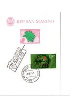 SAINT MARIN 1974 2 CARTES MAXIMUM CENTENAIRE DE L'U P U - Lettres & Documents