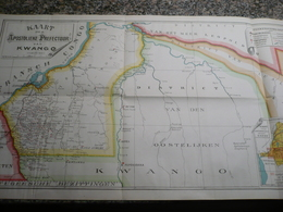 Congo Belge Kwango Kaart Der Apostolieke Prefectuur 1900 - Cartes Routières