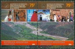 ARGENTINA 2004 UNESCO HERITAGE SITES PAIR** (MNH) - Argentine