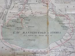 Carte Années 1880 - ZAMBIE / NORTH RHODESIA - Lacs Bangwelo , Moero , Tanganyika - Cartes Topographiques