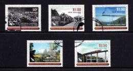 New Zealand 2008 Trains - North Island Trunk Line Set Of 5 Used - New Zealand