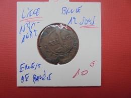 LIEGE ERNEST DE BAVIERE (1581-1612)  BRULE DE 12 SOUS (SOVS) - Belgique
