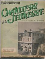 """4 Revues """"Bulletin Hebdomadaire D'Information Des Chantiers De La Jeunesse"""" - Avril Mai 1943 + Revue Groupement 23 - Livres, BD, Revues"""