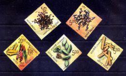 INDIA 2009 Spices Herbs Black Pepper Cinammon Cardomom Gastronomy Chilly Food 5v Stamp Set MNH - Otros