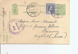 Luxembourg (EP+affranchissement Complémentaire De 1918 De Esch-sur-Alzette  Vers La Suisse à Voir) - Briefe U. Dokumente