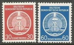 GDR 1954   Sc#O11 & O15  30pf & 60pf  MNH   2016 Scott Value $10.50 - [6] Democratic Republic