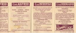Ciné Cinema Pub Reclame Programma Bioscoop Metropole - Normandie - Lido - Nord - Agora - Astrid Eeklo Gent Ledeberg 1955 - Publicité Cinématographique