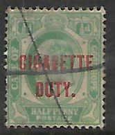 South Africa, CoGH Cigarette Duty, 1/2d, Used - South Africa (...-1961)