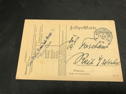 Correspondance Militaire - Feldpostkarte Sept. 1918 - Ersatz Bataillon Reserve Infanterie Regiment 12 Neu-Ulm - Marcophilie (Lettres)