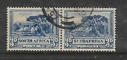 South Africa,, 1931, 3d Blue, Pair, Used - Zuid-Afrika (...-1961)