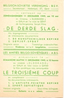 Ciné Cinema Eldorado & Gala Te Gent  Reclame Programma Belgisch Sovjetse Vereniging - Russische Film De Derde Slag 1949 - Publicité Cinématographique