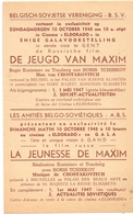 Ciné Cinema Eldorado & Gala Te Gent  Reclame Programma Belgisch Sovjetse Vereniging Russische Film Jeugd Maxim 1948 - Publicité Cinématographique