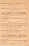 Ciné Cinema Eldorado & Gala Te Gent Reclame Programma Belgisch Sovjetse Vereniging Russische Film De Grote Ommekeer 1949 - Publicité Cinématographique