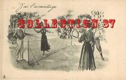 ☺♦♦ FEMME Et HOMME JOUANT Au TENNIS Par TUCK Raphael Serie N° 354 - PUBLICITE CHICOREE ARLATTE - Tuck, Raphael