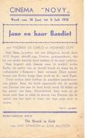 Ciné Cinema Pub Reclame Bioscoop Novy & Cinema City  - 1950 - Publicité Cinématographique