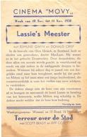 Ciné Cinema Pub Reclame Bioscoop Cinema Movy - 1950 - Lassie's Meester - Publicité Cinématographique