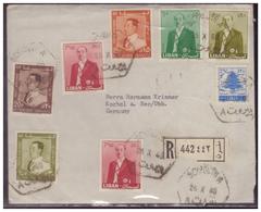 Libanon (007486) Einschreiben Beyrouth, Gelaufen Nach Kochel A. See. Am 25.10.1960 - Libanon