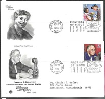 US 1998  Celebrate The Century President & Eleanor Roosevelt  On 2 FDCs - Ersttagsbelege (FDC)