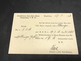 Correspondance Militaire - 1945 Heeresentlassungsstelle 1/VII MUNCHEN Hauptstadt Der Bewegung - Marcophilie (Lettres)