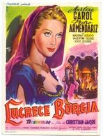 Kleine Affiche Affichette Pub Reclame - Cine Cinema Bioscoop - Film  Lucrece Borgia - Martine Carol - Publicité Cinématographique