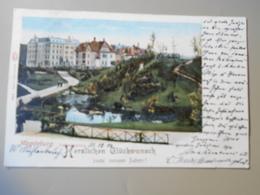 ALLEMAGNE SAXE-ANHALT MAGDEBURG LUISENGARTEN HERZLICHEN GLÜCKWUNSCH PRECURSEUR  VOYAGEE 1900 - Magdeburg