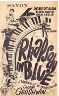 Programma Ciné Cinema Bioscoop Savoy Gent - Capitole - Select - Rhapsody In Blue - George Gershwin - Publicité Cinématographique