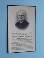 DP L'Abbé Joseoh RENARD Né TOURNAI 6 Juin 1886 - Décédé BLANDAIN 13 Mars 1956 ! - Obituary Notices