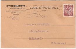 Carte Commerciale1941 / Ets DESMARETS / Electricité / 59 Douai Nord - Cartes