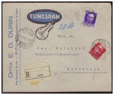 Italien (007488) Einschreiben Firmenbrief Tungsram Pola, Gelaufen Nach Remscheid Am 15.10.1929 - 1900-44 Victor Emmanuel III.