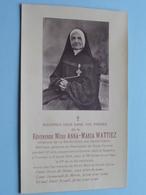 DP Révérende Mère ANNA-MARIA WATTIEZ () Tournai 6 Juil 1934 à L'age De 79me Année De Son Age ! - Décès