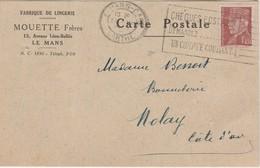 Carte Commerciale1942 / MOUETTE Frères / Fabrique Lingerie / 72 Le Mans - Cartes