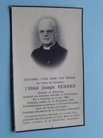 DP L'Abbé Joseph RENARD () Tournai 6 Juin 1886 - Blandain 13 Mars 1956 ! - Obituary Notices