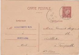 Carte Commerciale1941 / Entier Pétain 80 C / G. DEREUMETZ / 59 Hornaing Nord - Cartes