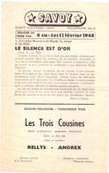 Ciné Cinema Bioscoop Pub Reclame Programma Savoy Gent - Capitole - Select - 1948 - Publicité Cinématographique