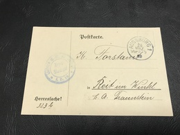 Correspondance Militaire Mars  1918 Landsturm Infanterie Ersatz Bataillon AUGSBURG IB 18 - Marcophilie (Lettres)