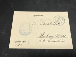 Correspondance Militaire Mars  1918 Landsturm Infanterie Ersatz Bataillon AUGSBURG IB 18 - Military Service Stampless