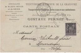 Carte Commerciale 1897 / Gustave PERNOT / Teinturerie De La Grand'Pré / Bleu Indigo / 70 Héricourt / Pour Gérardmer 88 - Cartes