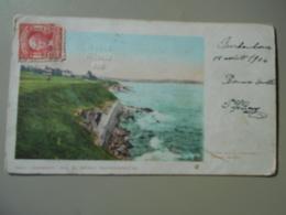 ETATS UNIS RI RHODE ISLAND NEWPORT CLIFF  WALK PRECURSEUR  8 X 14 CENTIMETRES - Newport