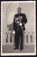 Ethiopia Colonel LANDIE TELAHUN Addis Abeba Photo 14,5 X 9,5 Cm Soldier Officer Uniform Sabre 1956 (see Sales Conditions - Ethiopie