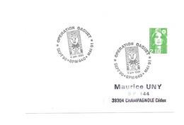 FLAMME POSTE AUX ARMEES  BPM 640 OPERATION DAGUET 1991 CHEVRE SABRE - Postmark Collection (Covers)