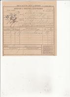 CHEMIN DE FER PARIS A LYON ET A MEDITERRANEE Gare AIX LES BAINS Recipissé 1885 RV  TIMBRE 70c - Vieux Papiers