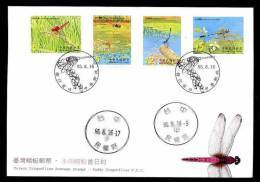 FDC Taiwan 2006 Paddy Dragonflies Stamps Dragonfly Rice Fauna Insect - 1945-... Republic Of China