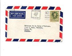 AUSTRALIE LETTRE AVION DE MELBOURNE POUR LA FRANCE 1961 - Postmark Collection