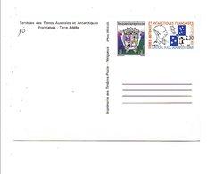 TAAF ENTIER NEUF 2.30 + 0.1 1983 - Enteros Postales