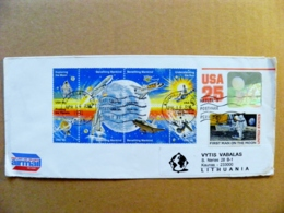 Cover USA Postal Stationery Hologram Hologramme American Football Space Moon Astronaut Benefiting Mankind Sun - United States