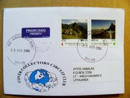 Cover Brazil 2014 Peru Mountains Machu Picchu Rio De Janeiro Joint Issue - Brazil