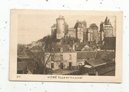 Photographie ,image ,  Château De VITRE ,  ILLE ET VILAINE , 2 Scans - Vieux Papiers