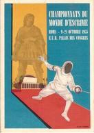 (C).Scherma.Campionati Del Mondo 1955 (178-a16) - Schermen