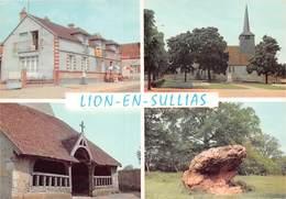 """LION-en-SULLIAS - Eglise - Porche - Pierre Crapaud - Bar-Restaurant """"Au Bon Accueil"""" - France"""